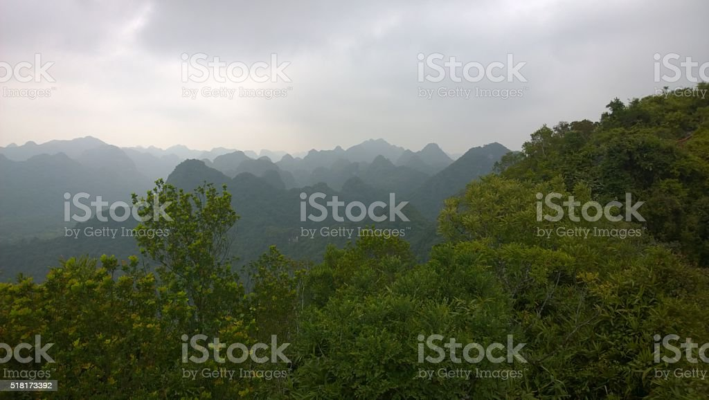 Cát Bà island national park in Halong Bay Vietnam stock photo