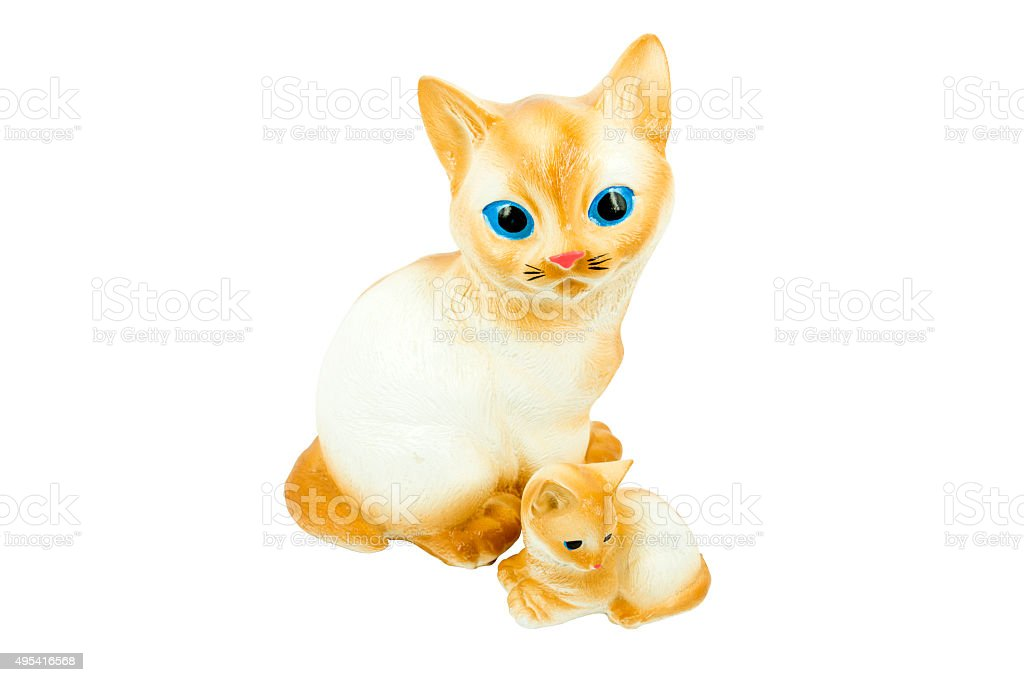 Cat Zement-Modell Lizenzfreies stock-foto
