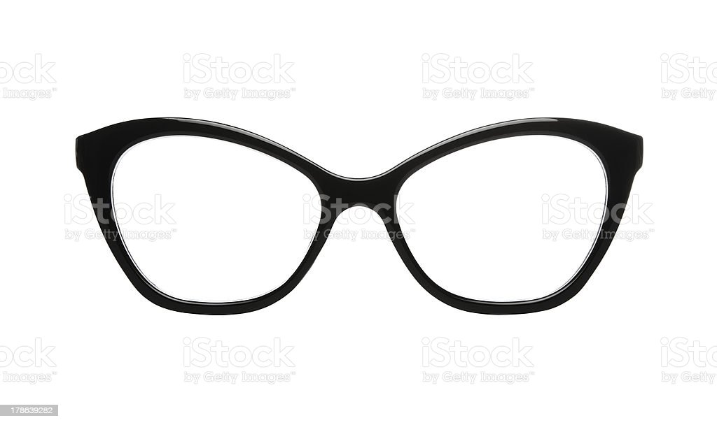 Cat eyes glasses with clipping path royalty-free stock photo