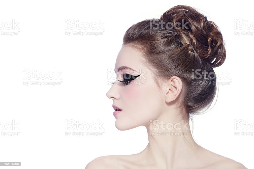 Cat eyes stock photo
