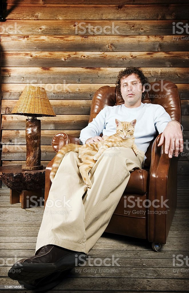 Cat on Lap royalty-free stock photo