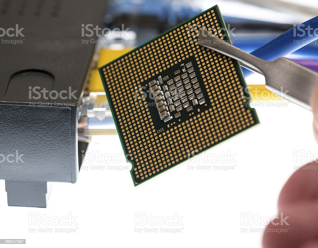 Cat5 cables and router for cyberdefence concept royalty-free stock photo