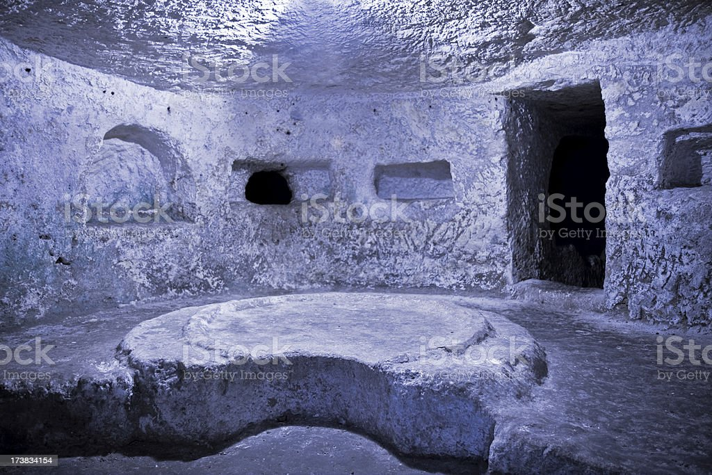 catacomb in Mdina royalty-free stock photo