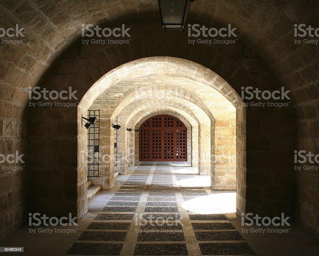 Catacomb stock photo