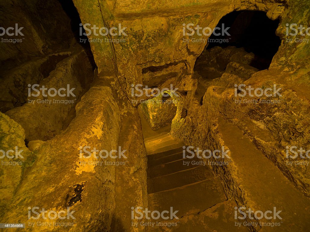 Catacombs as burial places stock photo