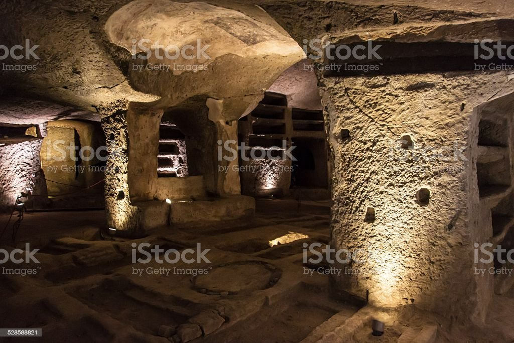 Catacombs of San Gennaro in Naples stock photo