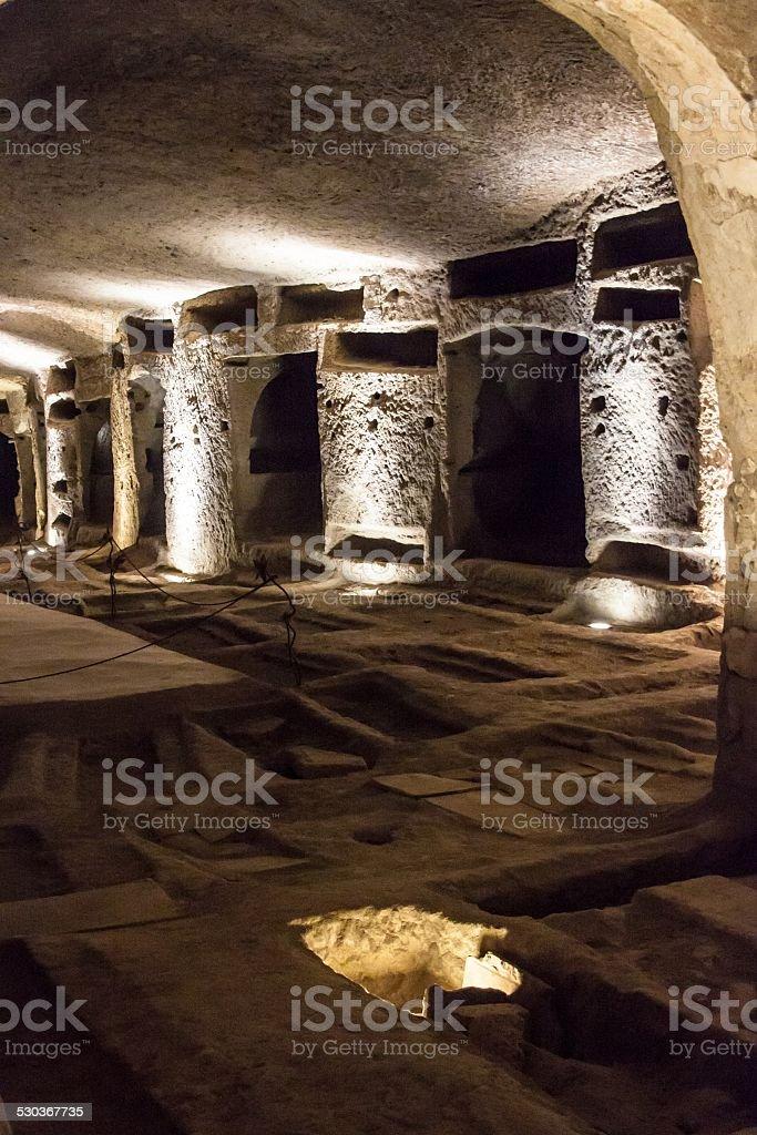 Catacombs of San Gennaro in Naples stock photo