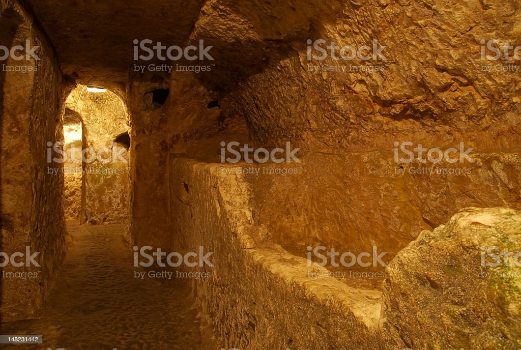 Catacombs, Rabat, Malta royalty-free stock photo