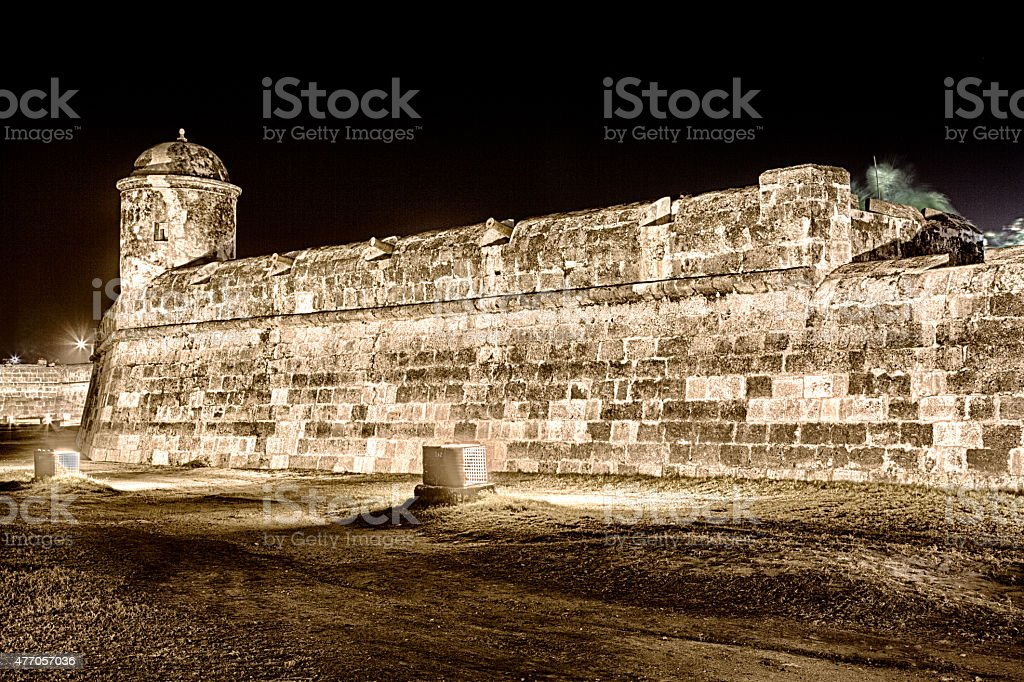 Catagena City Wall stock photo
