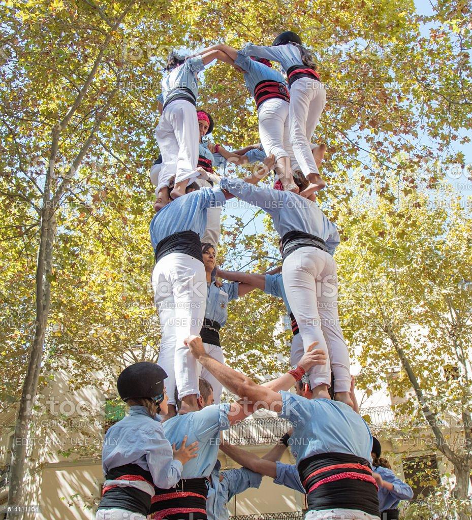 Catalan castell stock photo