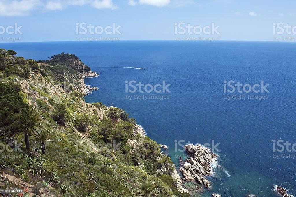 Catalan coast. Costa Brava royalty-free stock photo