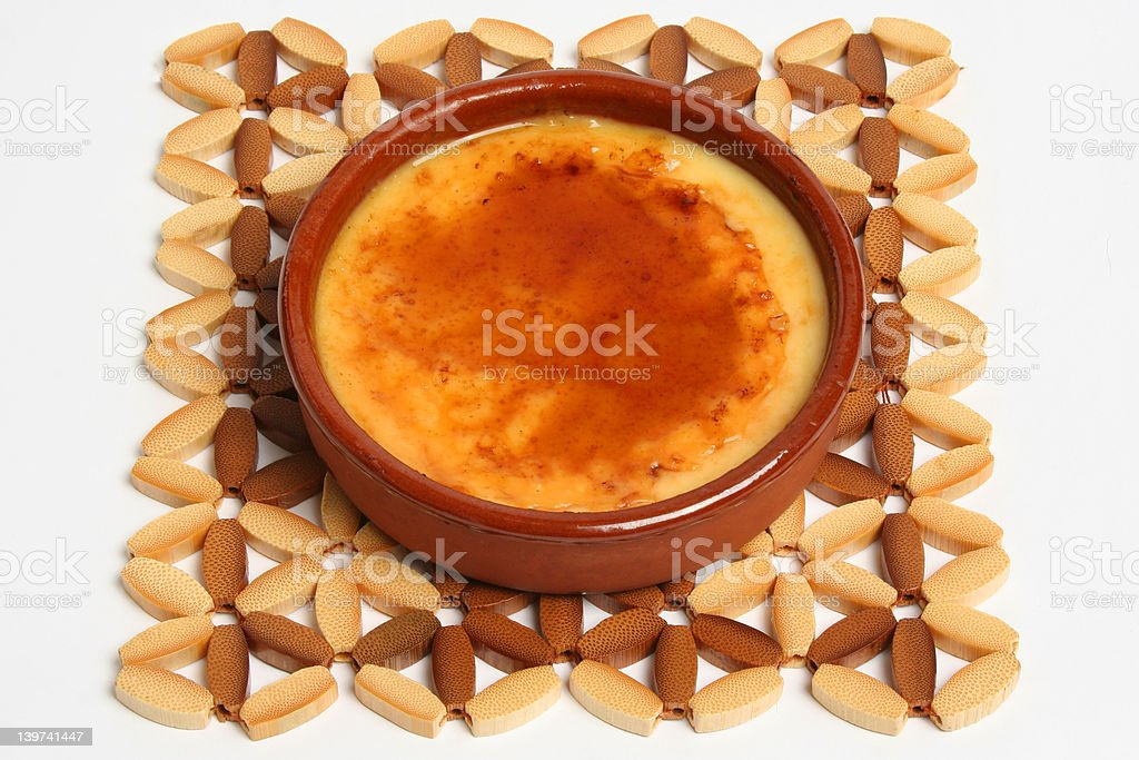 Catalan Creme royalty-free stock photo