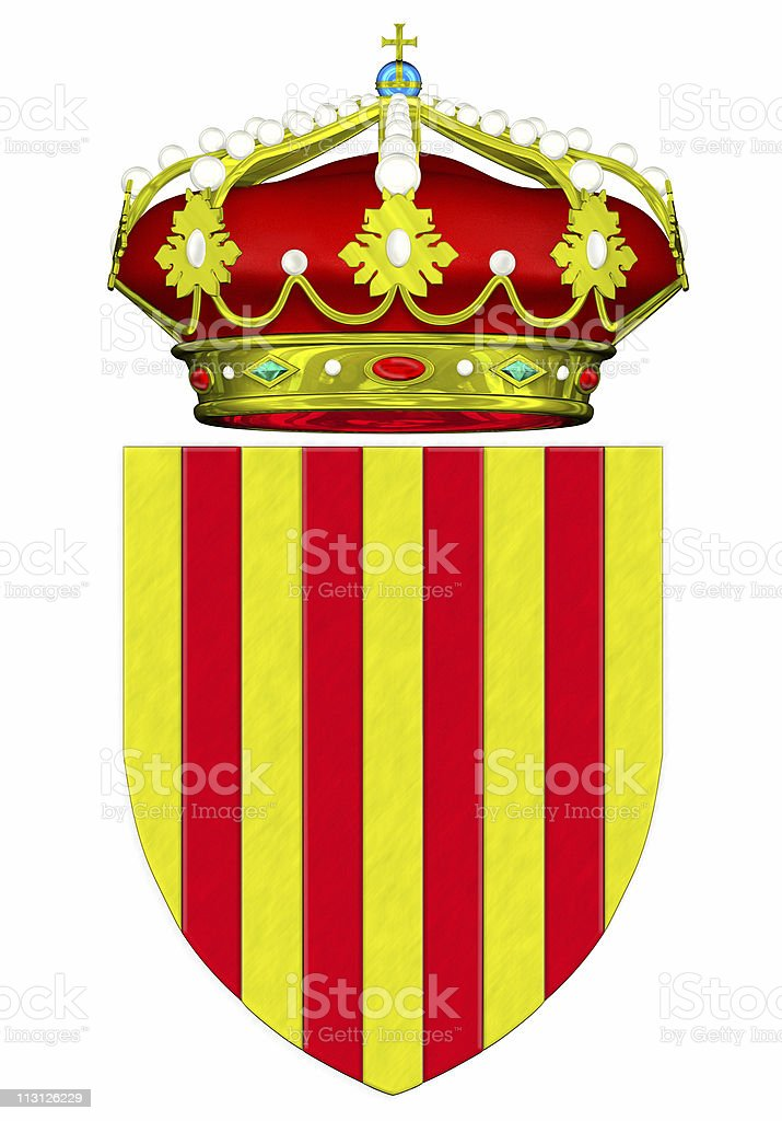 Catalan Crest Shield 3D royalty-free stock photo