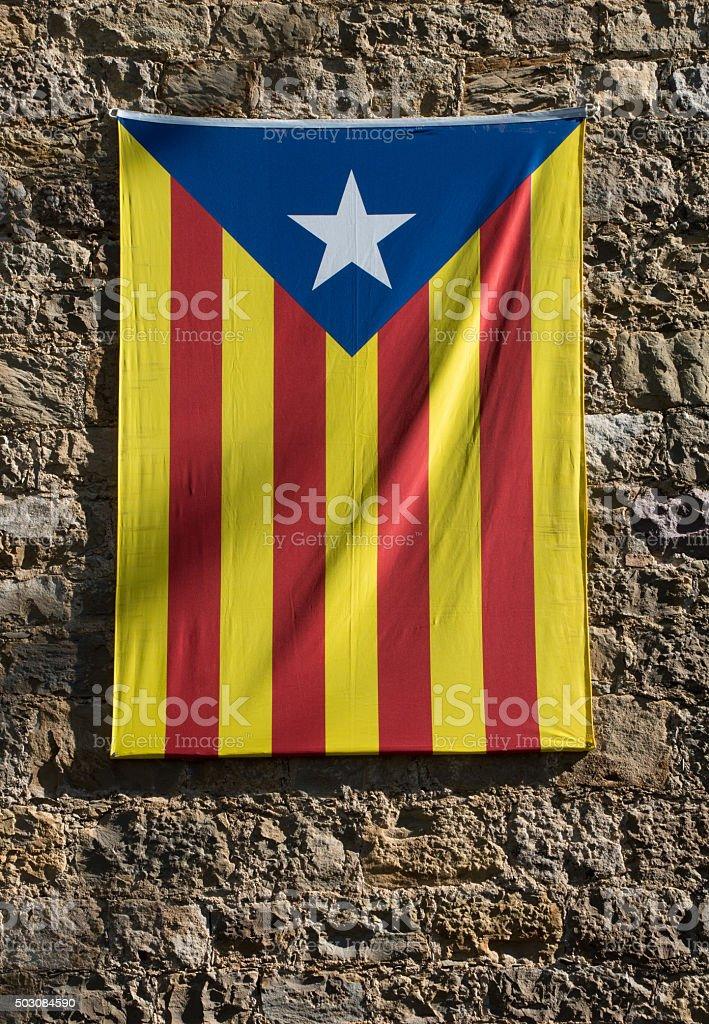 Catalan flag, Catalonia, Spain stock photo