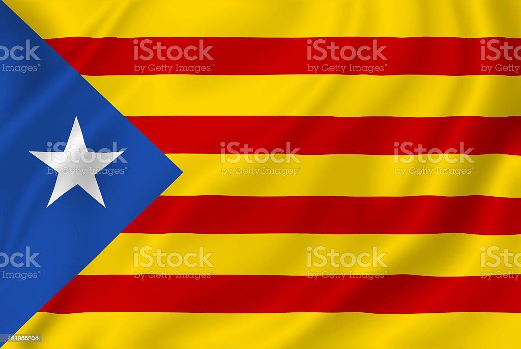 Catalan flag Estelada stock photo