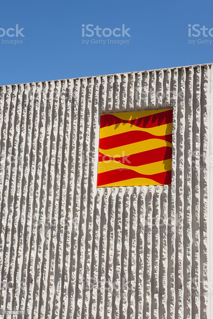 Catalan flag royalty-free stock photo