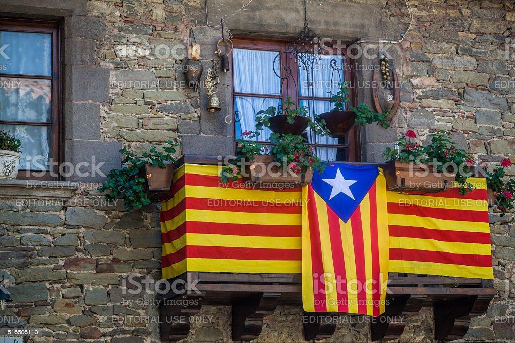 Catalan flag stock photo