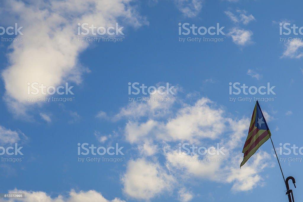 Catalan independence flag stock photo