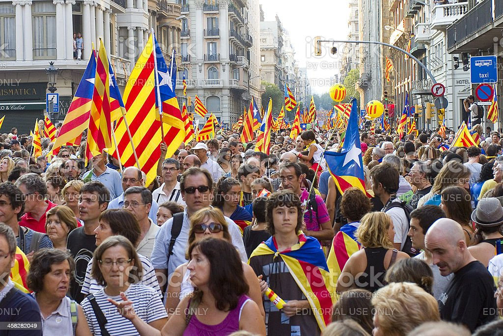 Catalan independence rally royalty-free stock photo