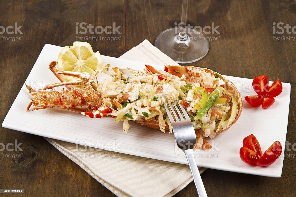 catalan lobster stock photo