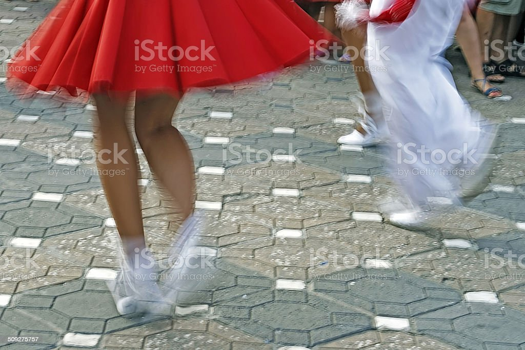 Catalan Spanish Dance stock photo