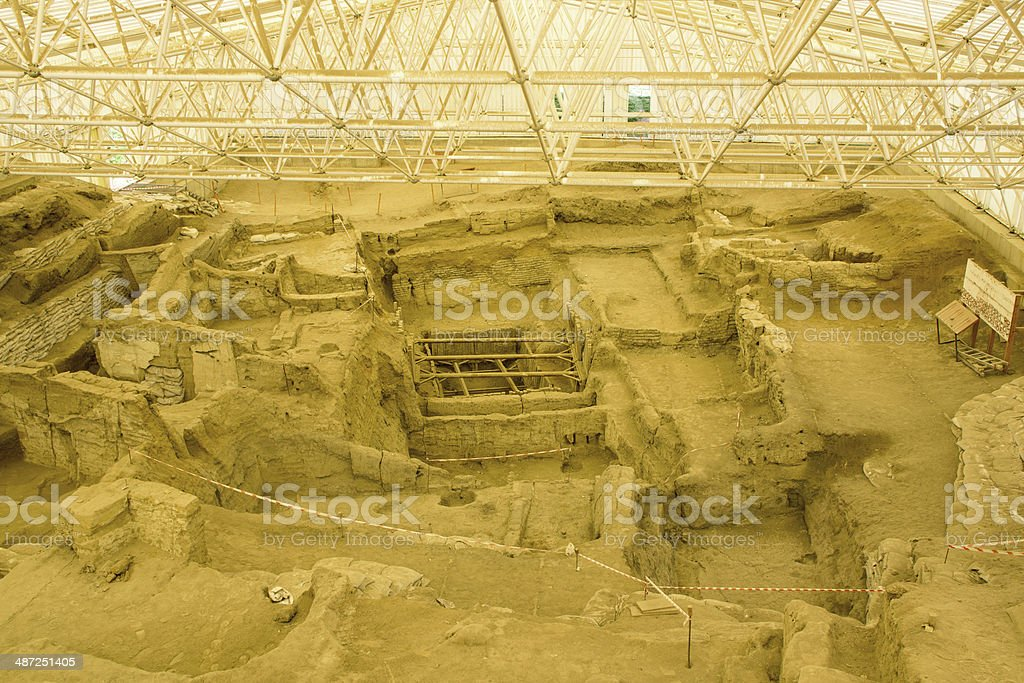 Catalhoyuk royalty-free stock photo