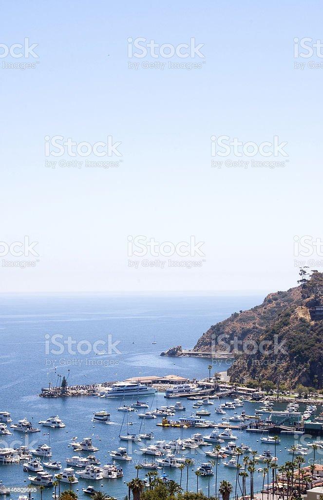 Catalina Harbor royalty-free stock photo