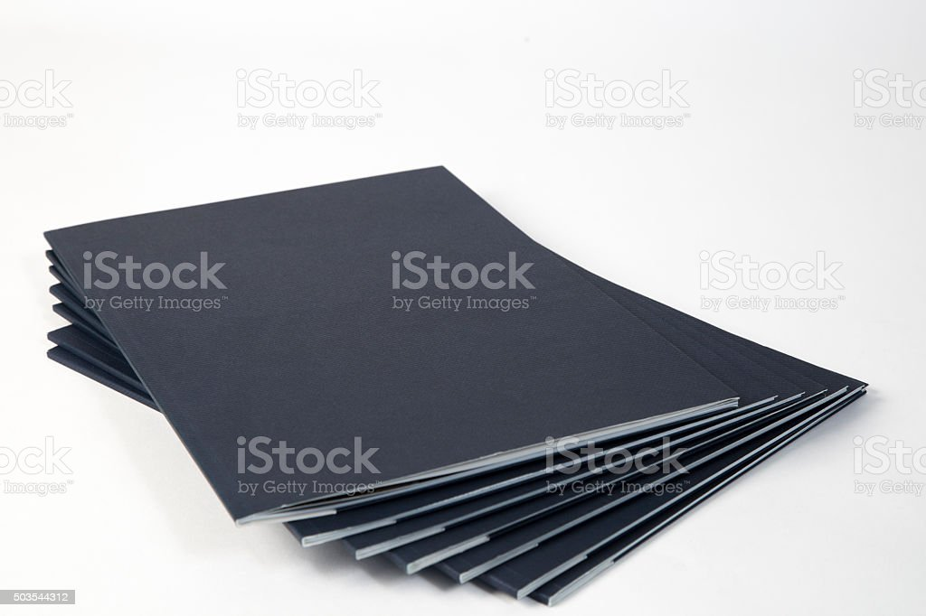 catalogs or magazines stock photo
