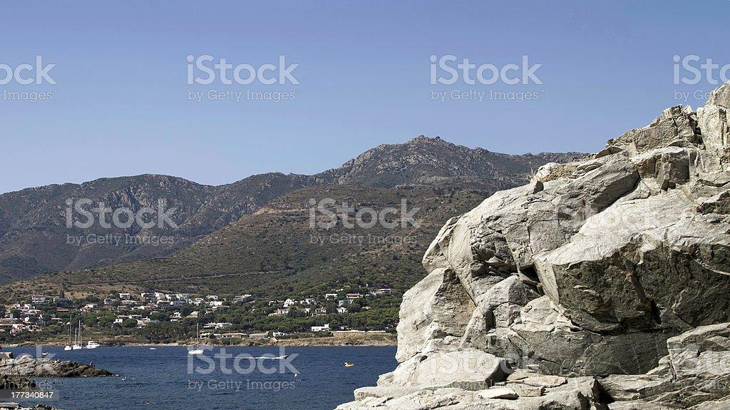 Catalonia coastline royalty-free stock photo