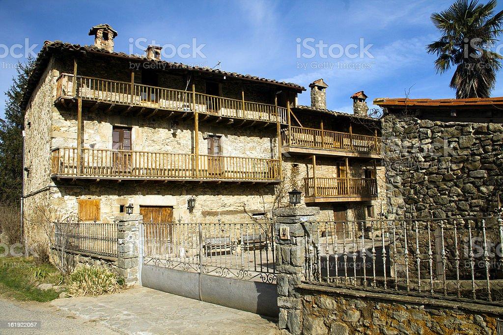 Catalonia country house royalty-free stock photo