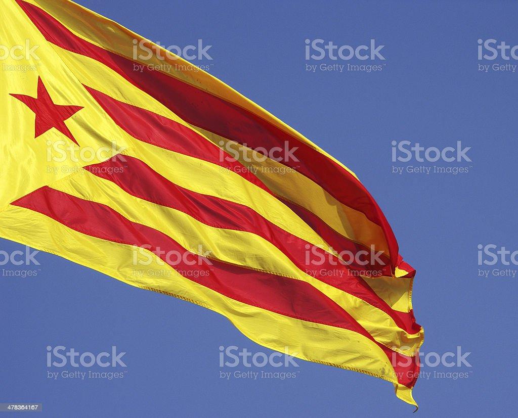 Katalonien Flagge Lizenzfreies stock-foto