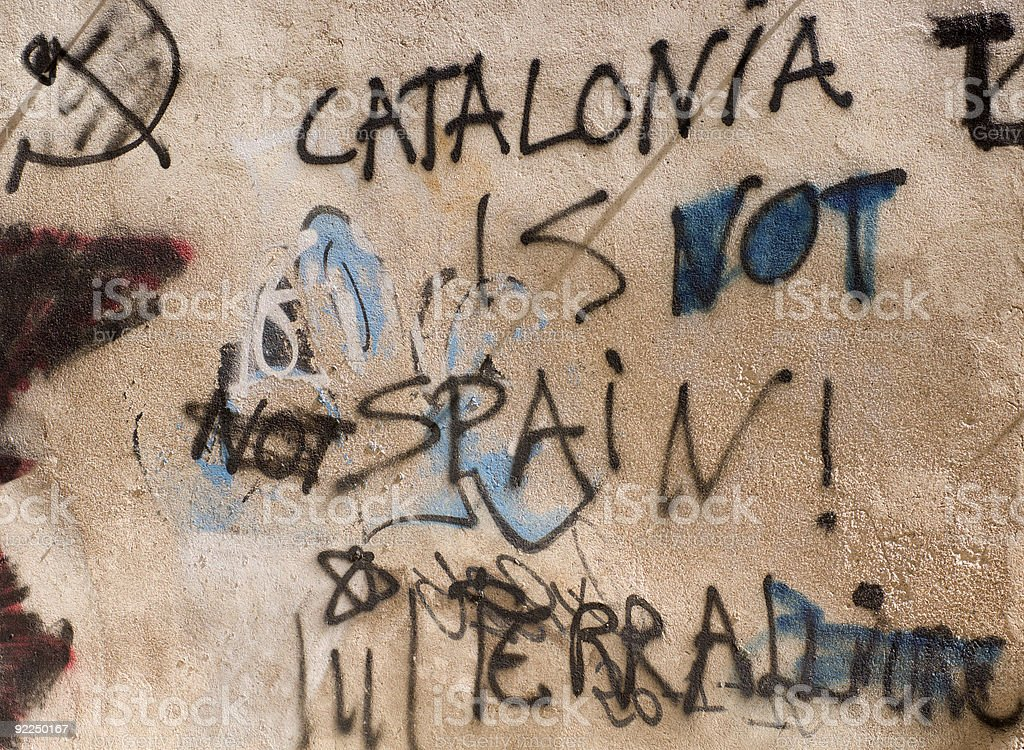 Catalonia is not Spain royalty-free stock photo