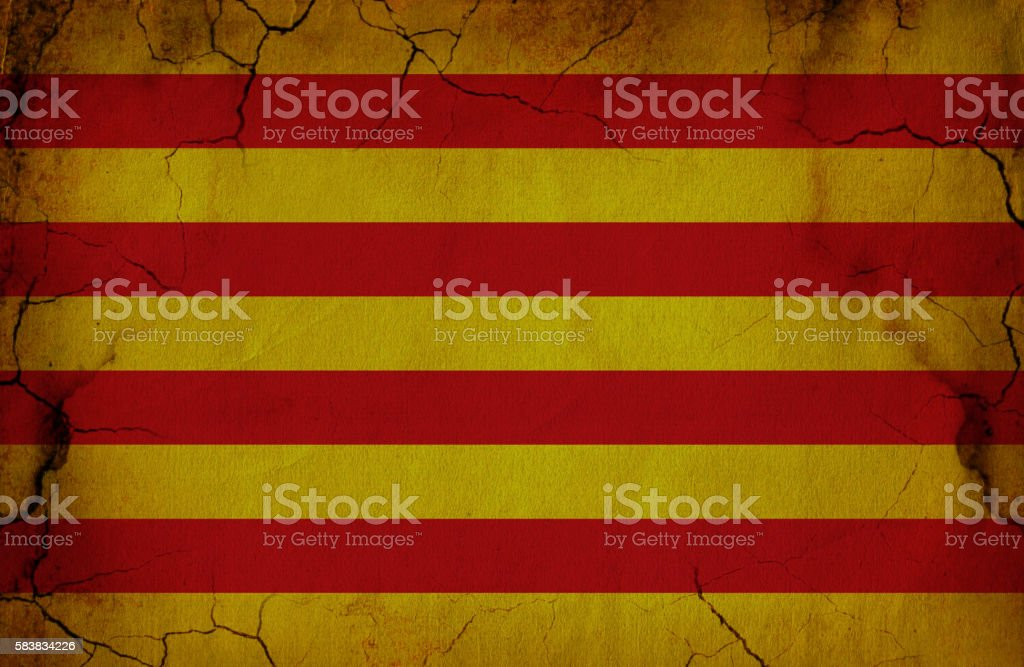 Catalonian grunge  Flag stock photo