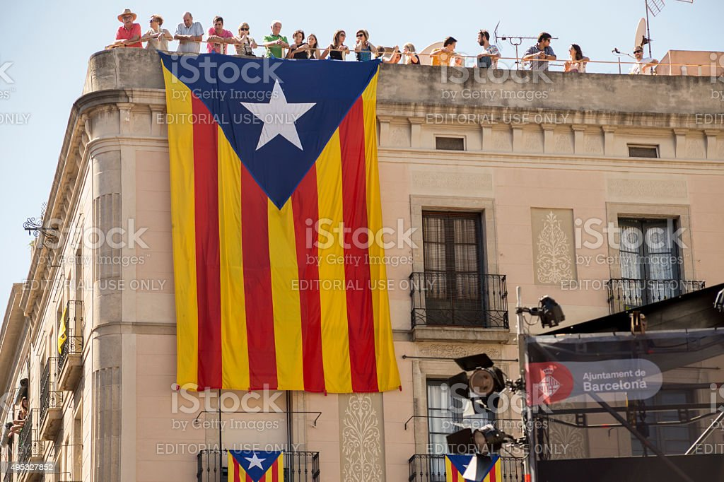 Catalonian Independence flag stock photo