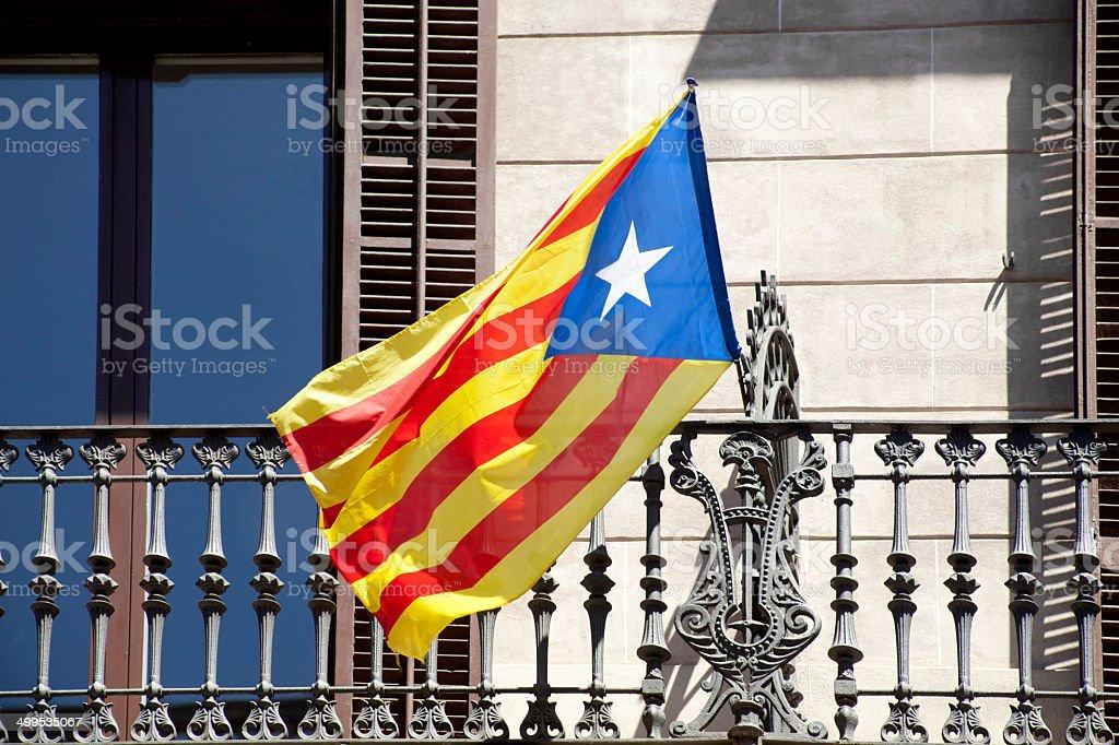 Catalunya flag stock photo