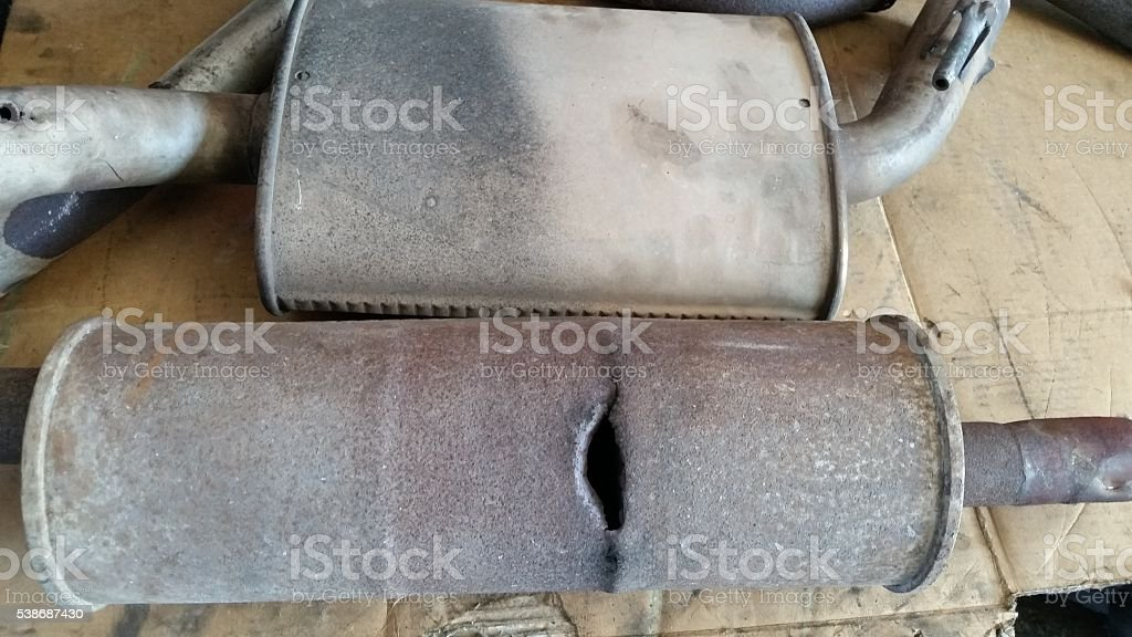 catalytic converter out of order stock photo