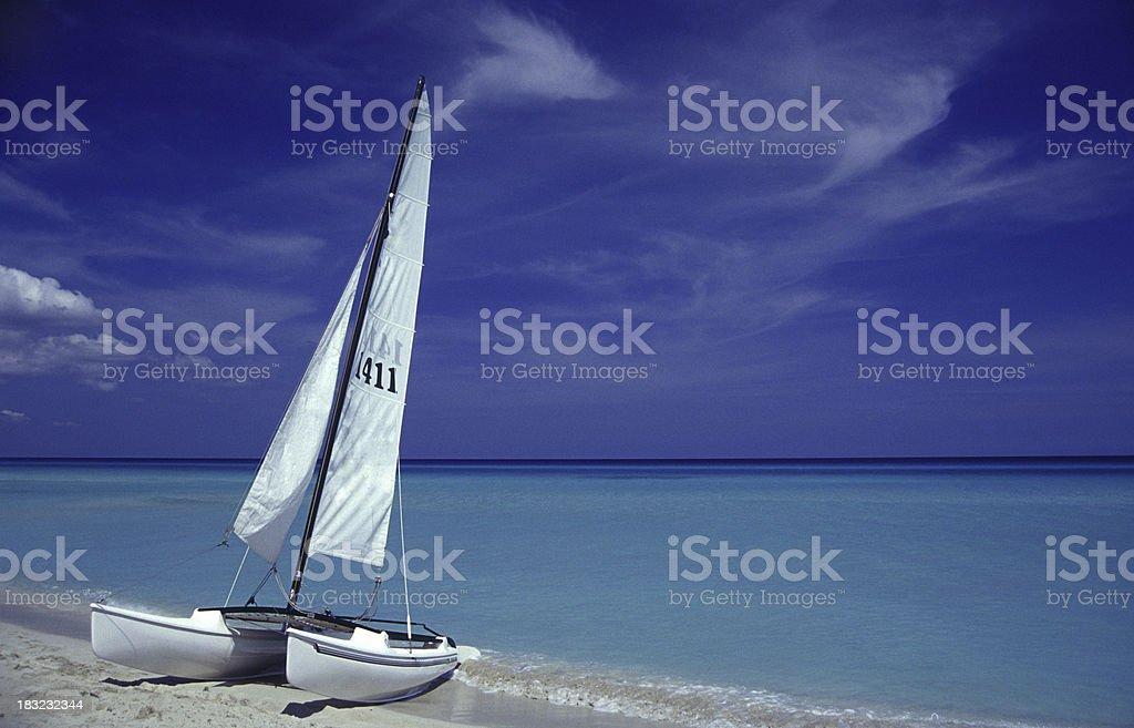 catamaran at beach royalty-free stock photo