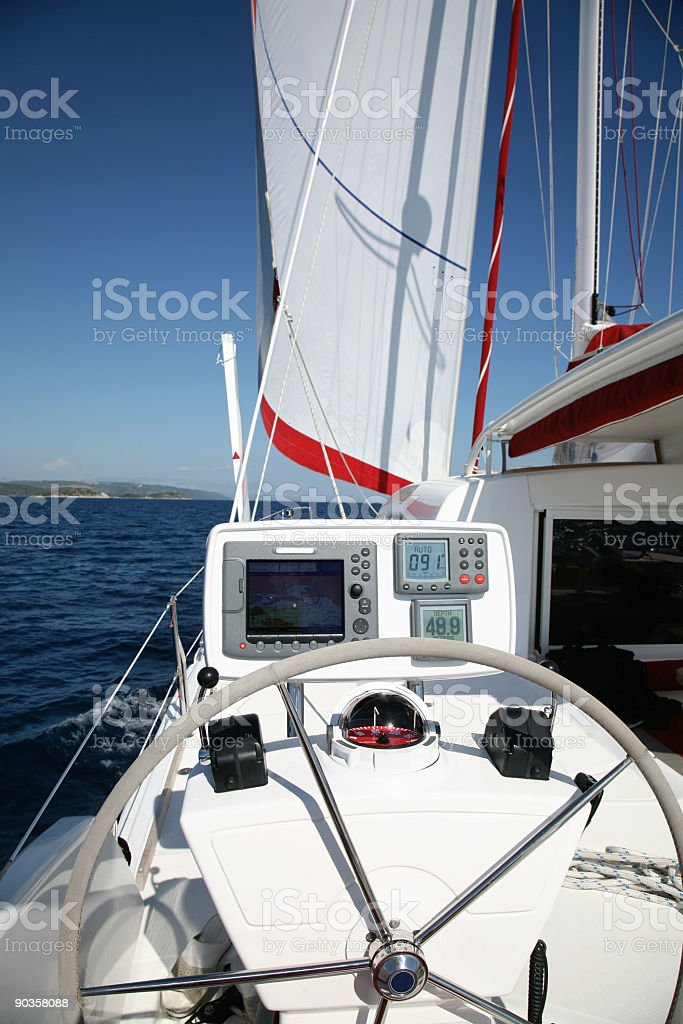 Catamaran details stock photo