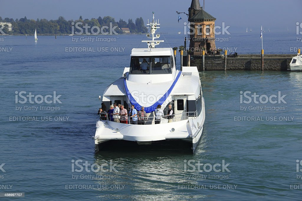Catamaran in Constance/Lake Constance royalty-free stock photo