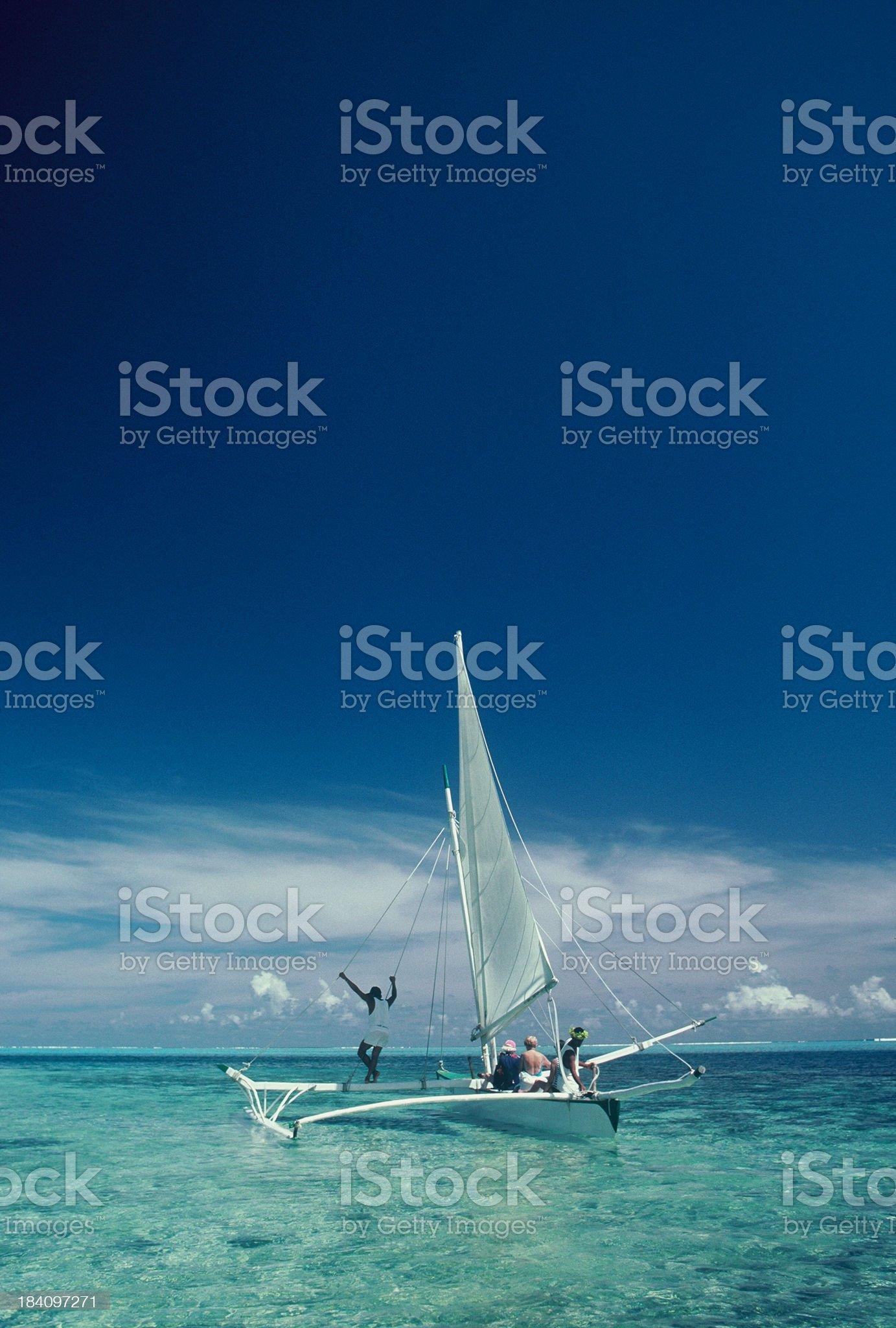 Catamaran royalty-free stock photo