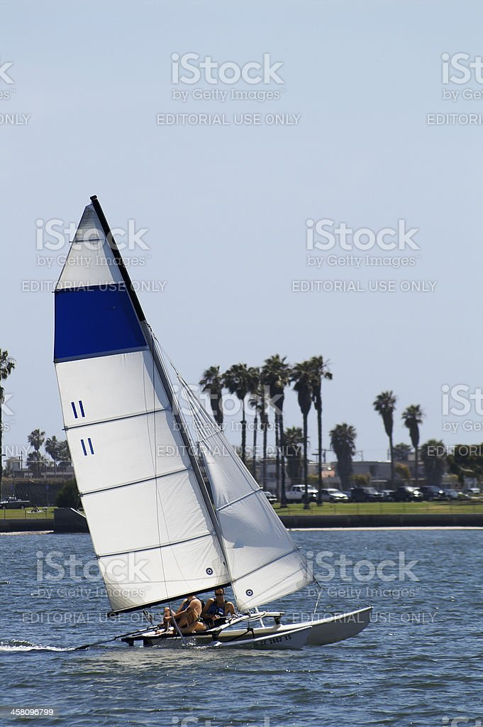 Catamaran Sailing stock photo