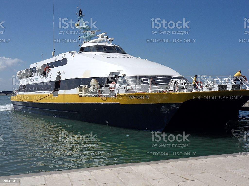 Catamarano per Favignana stock photo