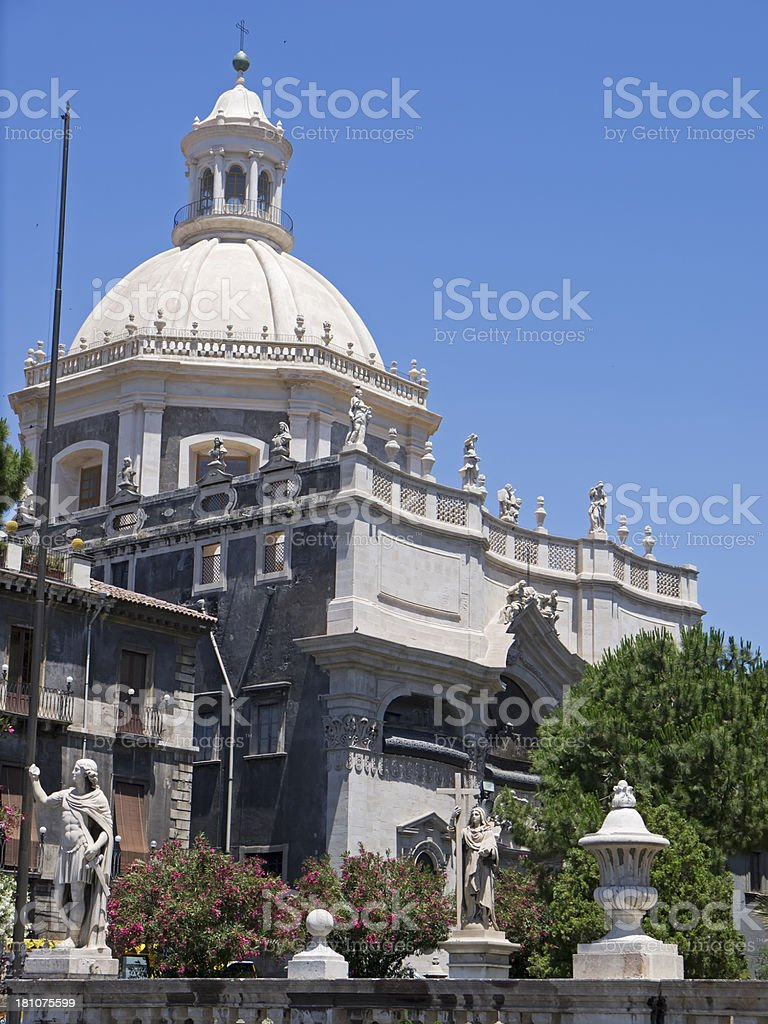Catania Cathedral detail royalty-free stock photo