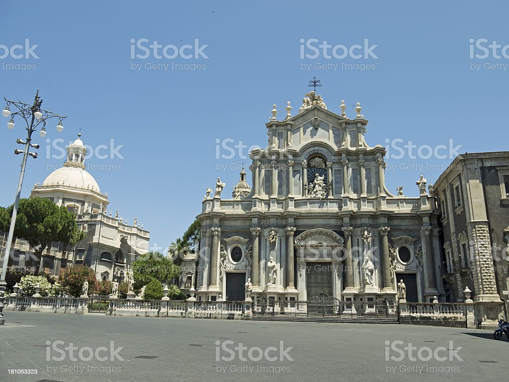 Catania Cathedral square royalty-free stock photo