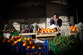Catania, Sicily: Fruit Vendor at Outdoor Market