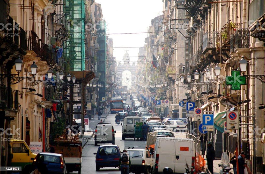 catania streets royalty-free stock photo