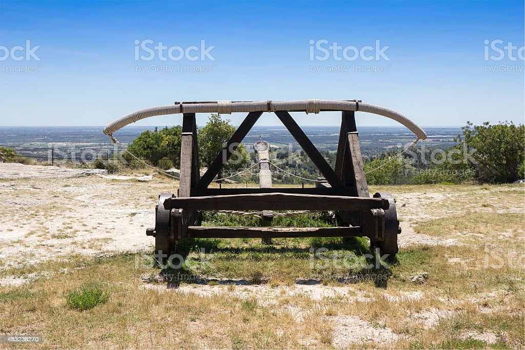 Catapult Medieval weapon stock photo