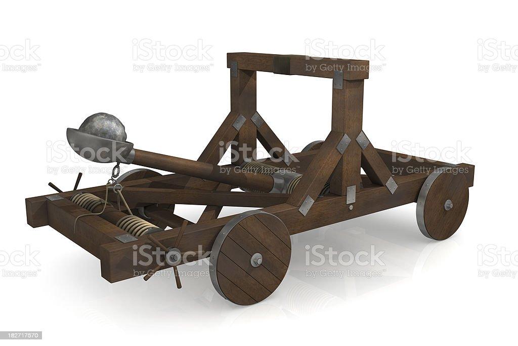 Catapult royalty-free stock photo