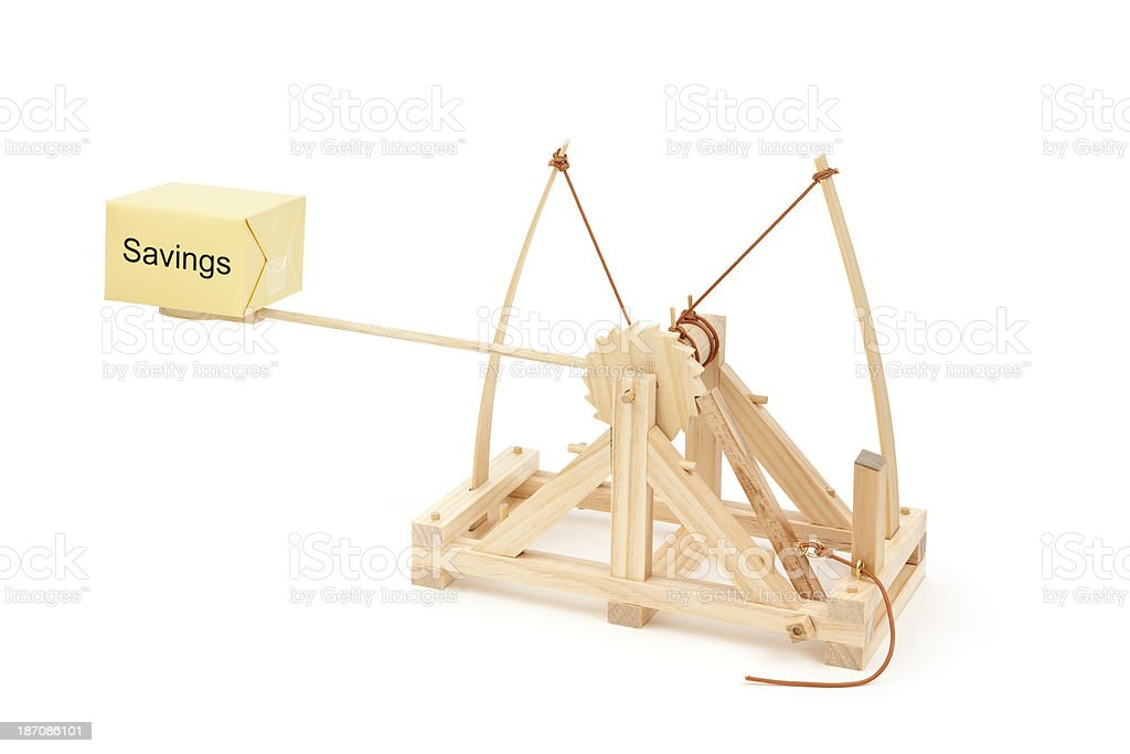 Catapult to Launch Your Savings stock photo
