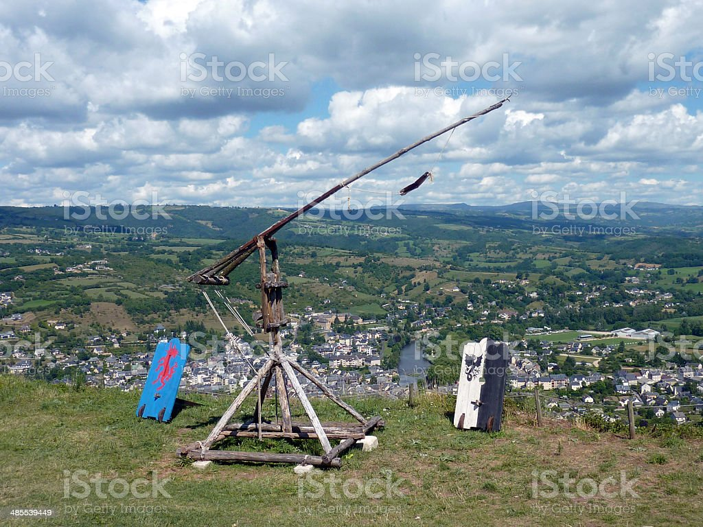catapulte stock photo